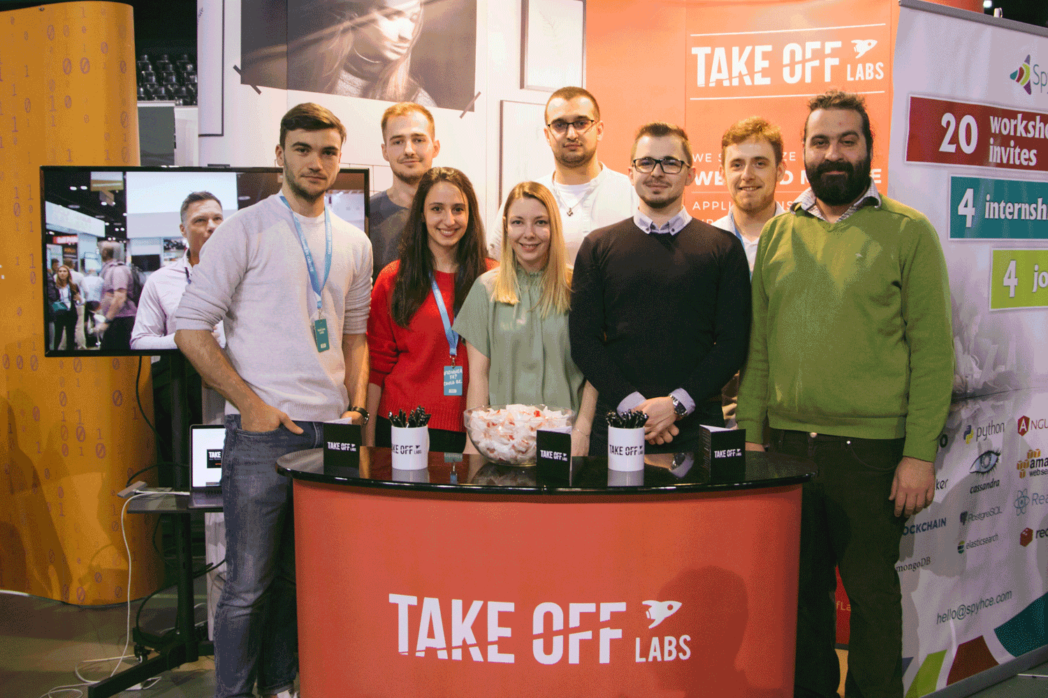 Take Off Labs team on a trade show stand